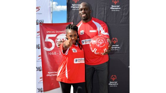 South Africa Hip Hop star Gigi Lamayne joins the WWE Superstar in her support of Special Olympics ...