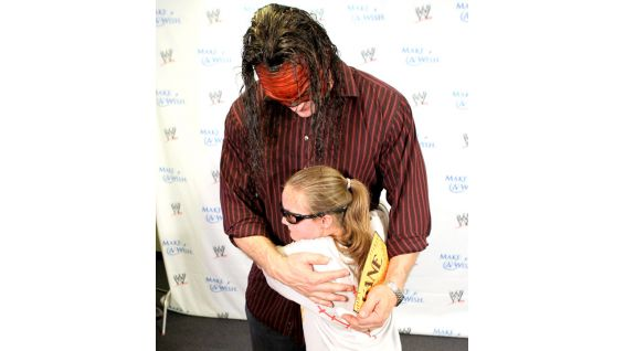 Kane gives a hug to Danielle, who is 12 years old.
