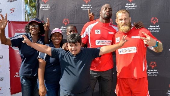 Titus and McLennan may look tough, but they had as much fun as the Special Olympics athletes and coaches on the field.