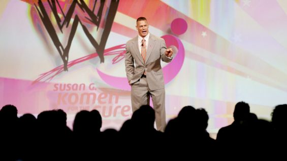 Cena talks about WWE's support of Susan G. Komen for the Cure.