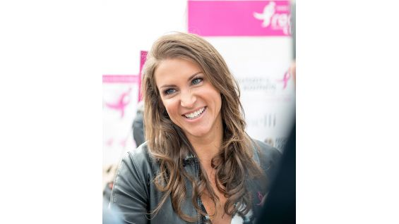 WWE Chief Brand Officer Stephanie McMahon takes part in the festivities in Rome.