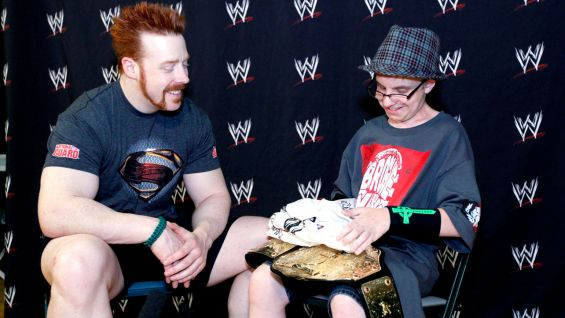 Sheamus meets Frank before SmackDown in Dayton, Ohio.