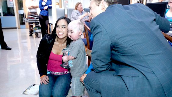 The Superstars and Divas never fail to bring smiles to kids' faces.