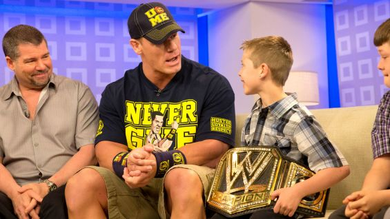 Cena gives Nick tickets to Monday Night Raw in Columbus, Ohio, that night.