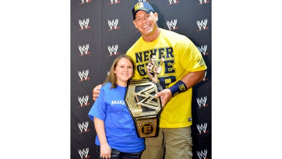 Kelsey is excited to meet her favorite Superstar before Raw.