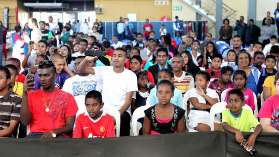 The WWE Universe gathers at the Nelson Mandela Chatsworth Youth Center in Durban.