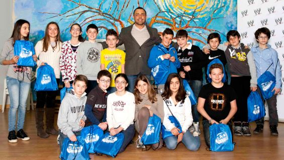 Santino Marella hosts a Be a STAR rally in Rome.