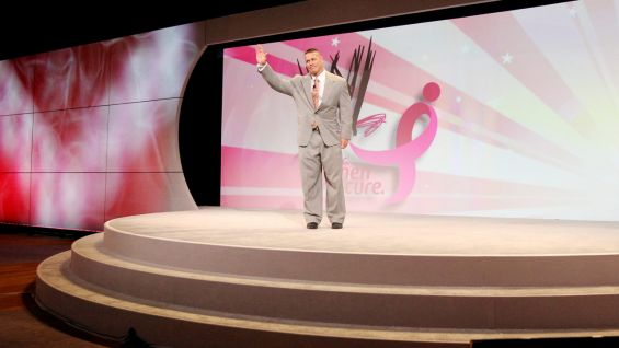WWE and Cena partnered with Komen to launch the Rise Above Cancer campaign to raise awareness and funds for the fight against breast cancer.