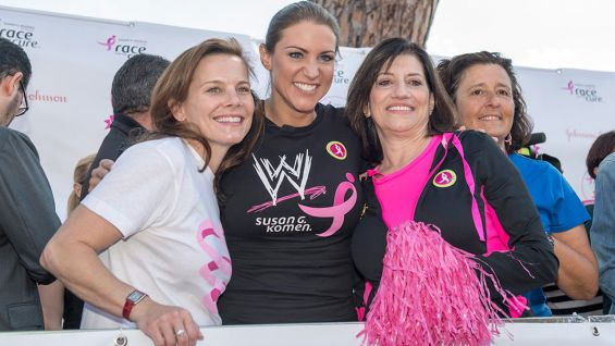WWE Chief Brand Officer Stephanie McMahon joins the Susan G. Komen Italia Race for the Cure in Rome.