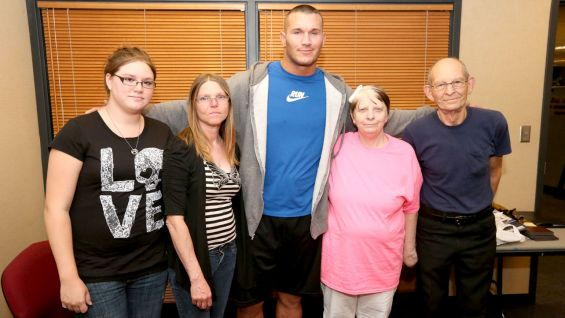 The WWE fan and her family also meet Orton before the Extreme Rules pay-per-view.