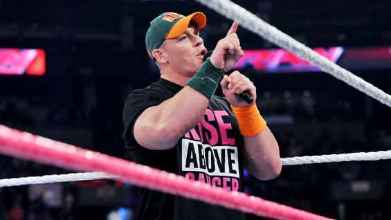 John Cena, from nearby West Newbury, Mass., wants to recognize breast cancer survivors in attendance.
