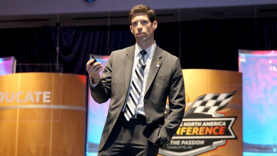 Brian Flinn, WWE's Senior Vice President of Marketing & Communications, speaks at the Special Olympics North America 2013 Conference.