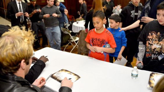 Families of first responders had the unique opportunity to meet WWE Superstars in Manhattan.