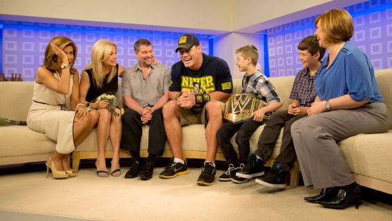 """""""Tonight you're going to be a WWE Superstar with me on Monday Night Raw,"""" he tells the 8-year-old."""