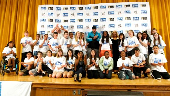 WWE Superstars and Divas host a Be a STAR rally for students in Omaha, Neb.
