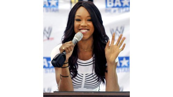 "The former Divas Champion encourages the students to ""Be a STAR -- Show Tolerance And Respect."""