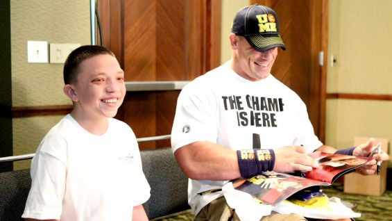Cena has granted more than 350 wishes and counting with Make-A-Wish!