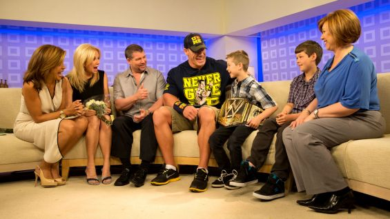"John Cena surprises Make-A-Wish's Nick on NBC's ""Today"" during World Wish Day."