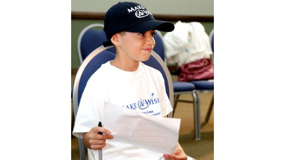 Juan is 8 years old and is also from Make-A-Wish.