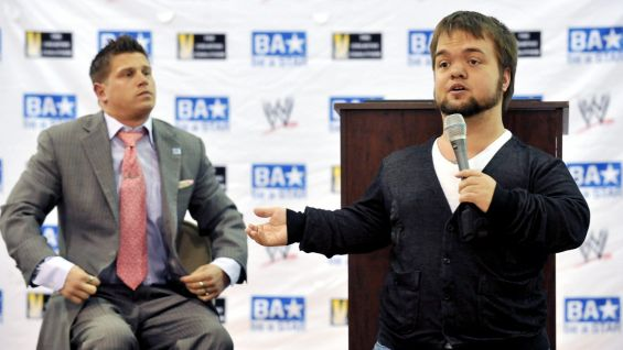 Hornswoggle tells a personal story about being bullied as a kid.
