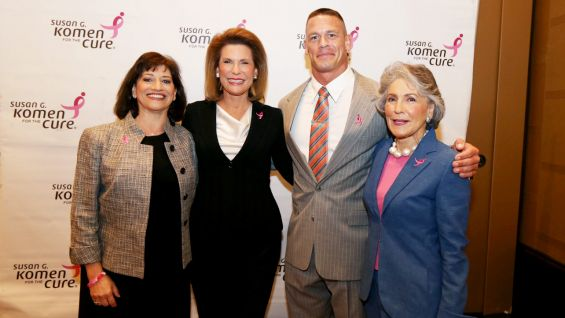 "This year, WWE and Komen launched an awareness campaign, ""Make Mom Proud,"" to support the fight against breast cancer."