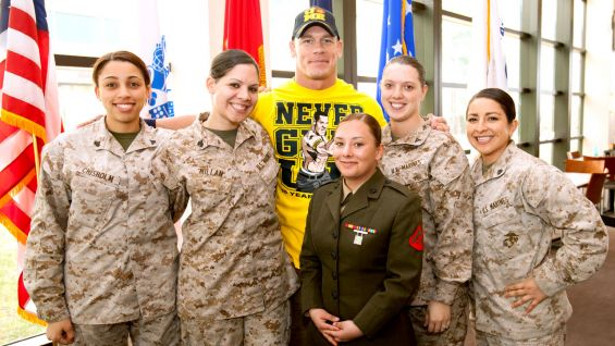 WWE is an active supporter of the United States Military.
