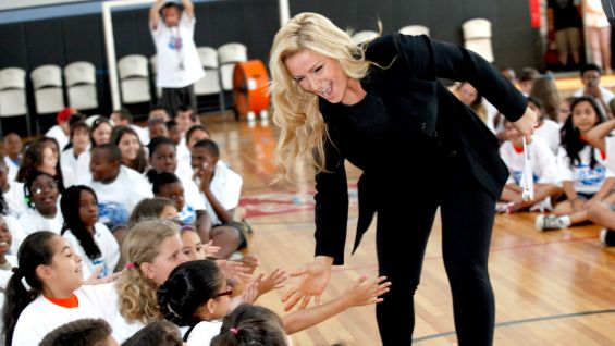 The children in attendance were excited to meet Natalya.