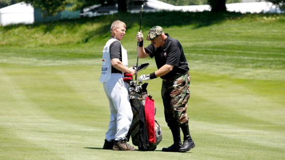 wwe hall of famers play golf for charity at the 2013