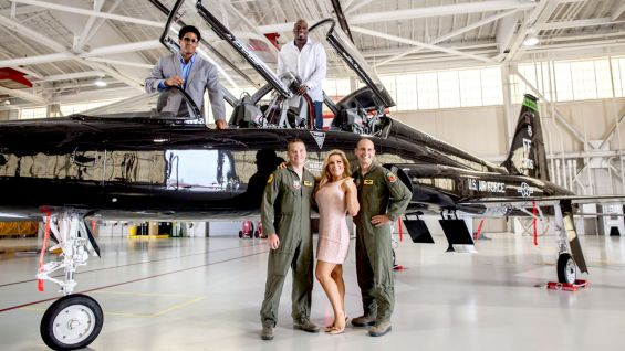 Natalya and The Prime Time Players met with members of the United States Military recently at Langley Air Force Base.