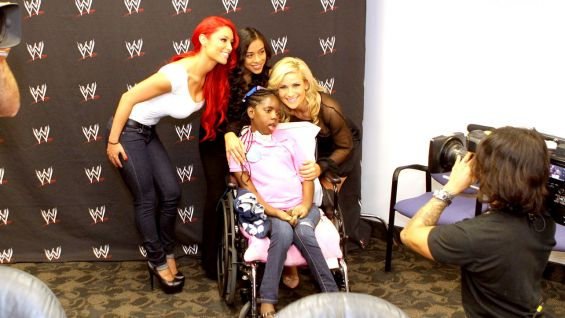 Eva Marie, Jo-Jo and Natalya meet Kquatracciya.