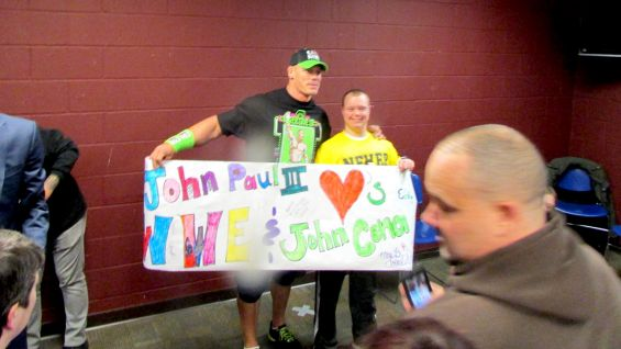 Cena invited Patrick and his class to a WWE live event in Reading, Pa.