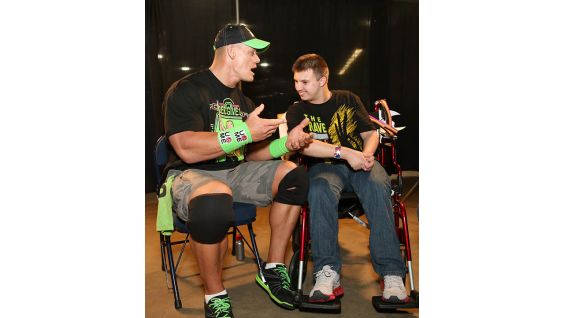 John Cena has granted more than 400 wishes and counting with agencies like Magic Moments and Make-A-Wish!