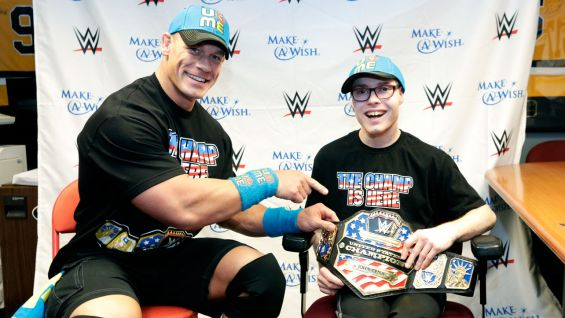 John Cena meets Tyler from The Granted Wish Foundation in Green Bay, Wisc.