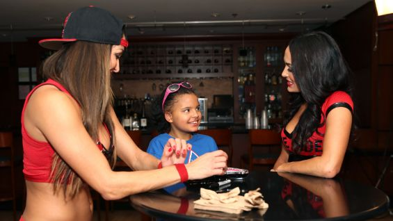 Georgia, 10, is thrilled to meet her favorite Divas before SummerSlam.