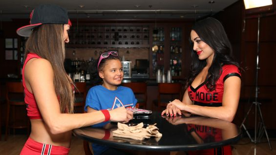 "The meet-and-greet with Georgia and the ""Total Divas"" stars takes place at STAPLES Center in Los Angeles."
