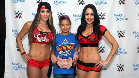 Nikki and Brie Bella meet Make-A-Wish's Georgia. It's The Bella Twins' first time granting an individual wish!