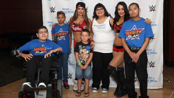 All of the Circle of Champions honorees who wished to go to SummerSlam join the meet-and-greet.
