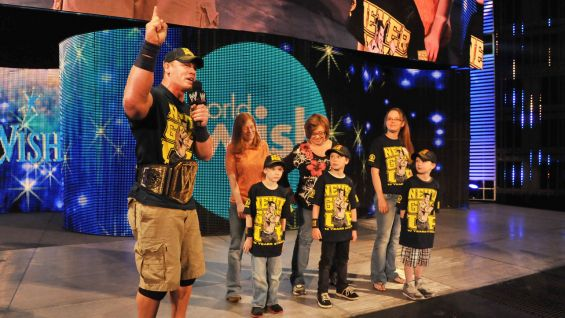 Cena has granted more than 300 wishes and counting with Make-A-Wish.