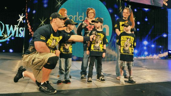 "Nick was surprised by Cena earlier in the day live on ""Today."""