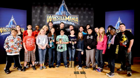 WWE celebrated the Eighth annual WrestleMania Reading Challenge Finals at City College's Aronow Theater in Harlem, New York.