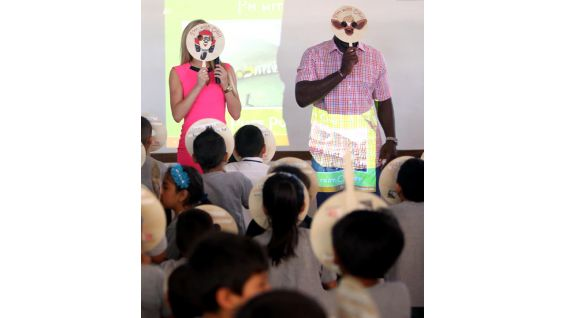 "The children make masks based on the lessons of friendship that are taught in ""Otis."""