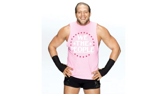The Real Americans' Jack Swagger beams with pride in his Komen gear.
