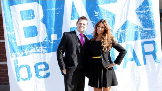 The Miz and Eve are the leaders of a be a STAR event in the Los Angeles area.