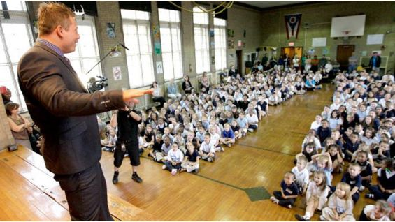 The Miz talks to kids in Cleveland about be a STAR.
