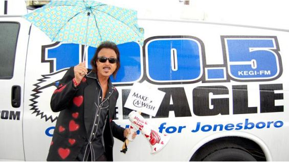 """Jimmy """"The Mouth of the South"""" Hart kicks off the Have a Heart Wish-A-Thon."""