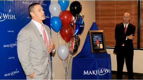 John Cena and WWE are honored by Make-A-Wish Foundation in Phoenix.