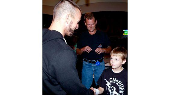 CM Punk meets Hunter of Make-A-Wish.