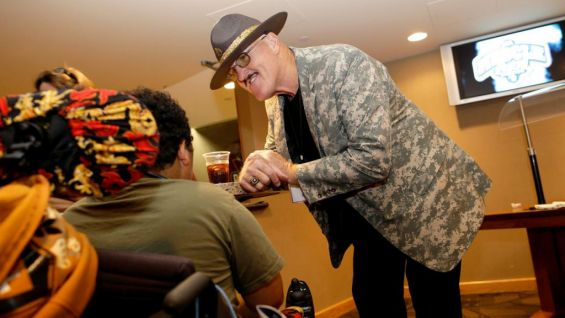WWE Hall of Famer Sgt. Slaughter is a special guest at the MDA Muscle Team Wisconsin benefit.