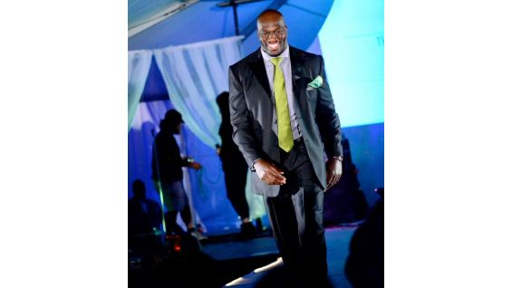 SmackDown Superstar Titus O'Neil took to the runway as a celebrity model in the 3rd Annual Chillounge Charity Fashion Show in Tampa, Fla.