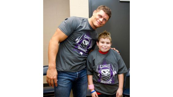 The meet-and-greet marks Cody's first time granting an individual wish to a WWE Circle of Champions honoree!